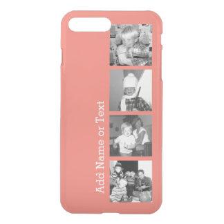 4つの写真が付いているInstagramの写真のコラージュ-珊瑚 iPhone 8 Plus/7 Plus ケース