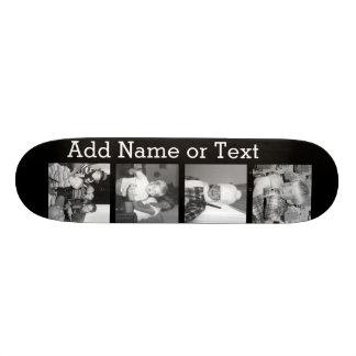 4つの写真とInstagramのコラージュ-黒を作成して下さい 20cm スケートボードデッキ