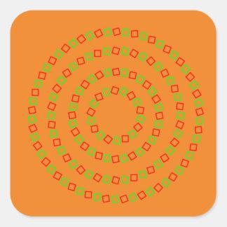 4つの完全な円(目の錯覚) スクエアシール