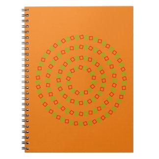 4つの完全な円(目の錯覚) ノートブック