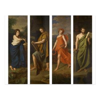 4つの店のシンボルや象徴(Hygieia、ヒポクラテス、Galen…) ポストカード