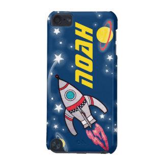 4つの手紙のネーム空間のロケットの青い黄色 iPod TOUCH 5G ケース
