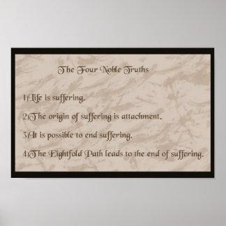 4つの気高い真実の仏教 ポスター