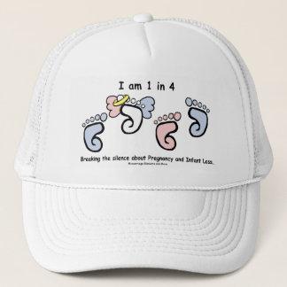 4つの白の帽子の1 キャップ