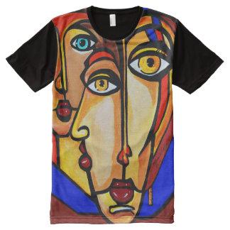 4つの目 オールオーバープリントT シャツ
