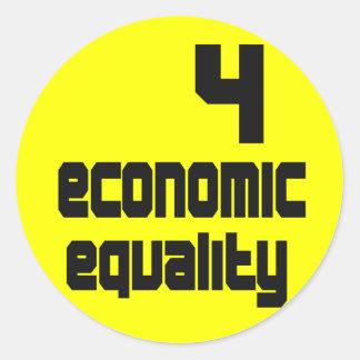 4つの経済的な平等のステッカー ラウンドシール