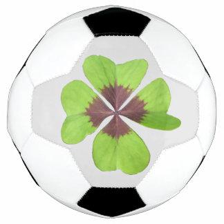 4つの葉のクローバーのカスタマイズ可能なサッカーボール サッカーボール