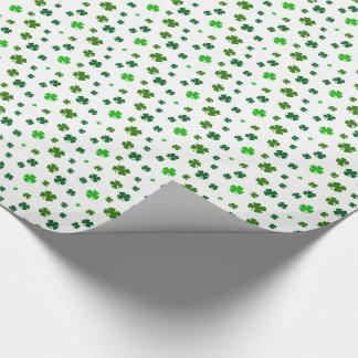 4つの葉のクローバーのシャムロックのギフト用包装紙の包装紙 ラッピングペーパー