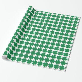 4つの葉のクローバーの包装紙 ラッピングペーパー