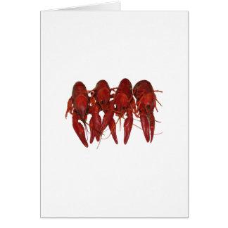 4つの調理されたCrawfish カード