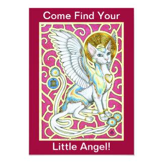 4つの足の招待状の天使の歩行 カード