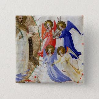 4つの音楽的な天使のds 558 f.67v St Dominic、 5.1cm 正方形バッジ