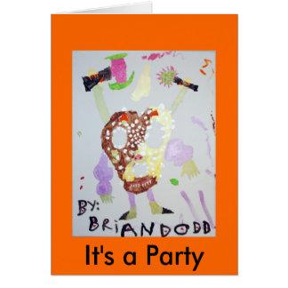 4つはそれによってがパーティの招待状である野蛮なPretzeを武装させました カード