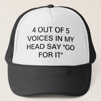 4つヘッドの5つの声から行きますそれのために言って下さい キャップ