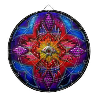 4の南西抽象的な円の芸術1 ダーツボード