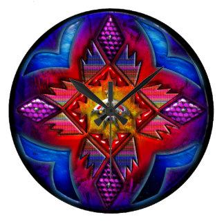 4の南西抽象的な円の芸術1 ラージ壁時計
