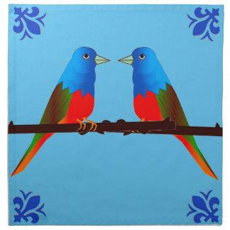4の布のナプキンセットの色彩の鮮やかな旗布の芸術 ナプキンクロス