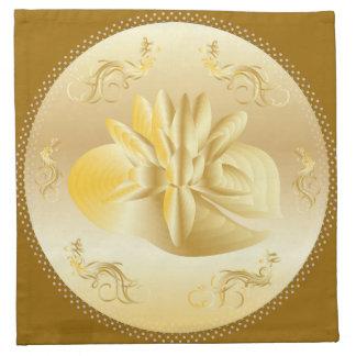 4の置かれる金ゴールドの大事な行事の祭典のナプキン ナプキンクロス