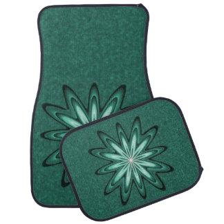 4の置かれる《写真》ぼけ味のカーマットの海緑の星の花 カーマット