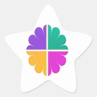 4カラー・グラフィックの装飾のプリント 星シール