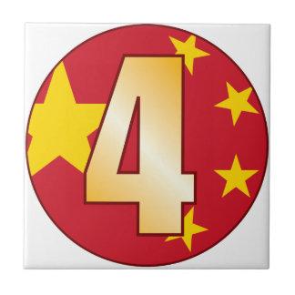 4中国の金ゴールド タイル