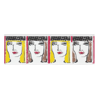 4人の女の子-ピン 名札