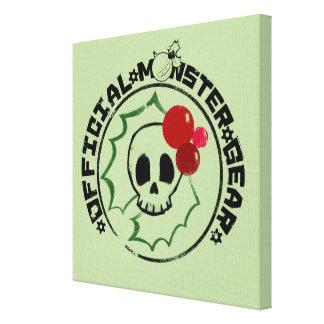 4人の小さいモンスター- Nessaの休日のロゴ2 キャンバスプリント