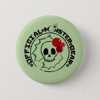 4人の小さいモンスター- Nessaの休日のロゴ2 5.7cm 丸型バッジ