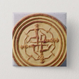 4人の戦士を描写する型 5.1CM 正方形バッジ