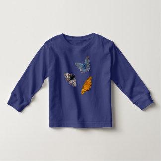 4匹のまれな蝶 トドラーTシャツ