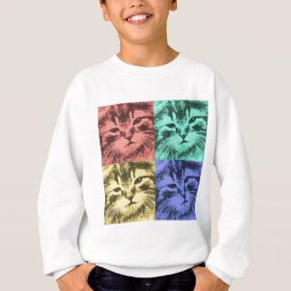 4匹の多彩な猫 スウェットシャツ