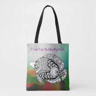 4匹の目の蝶魚のトートの素晴らしい色 トートバッグ