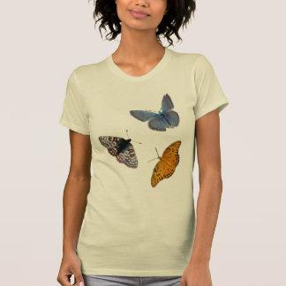 4匹の蝶丸首 Tシャツ