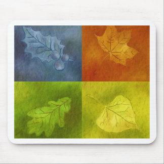 4季節の4つの葉 マウスパッド