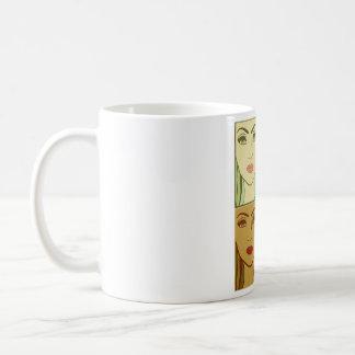 4季節1の女の子の顔 コーヒーマグカップ