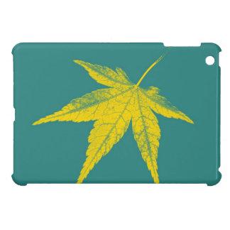 4季節|の芸術の葉3の葉 iPad MINIケース