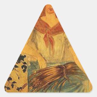 4季節、ポールセザンヌ著夏 三角形シール