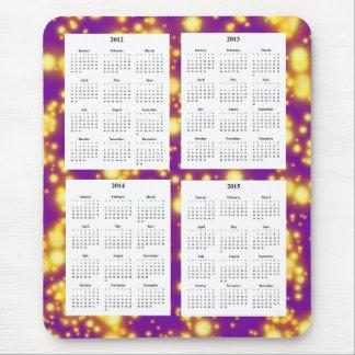 4年のカレンダー(2012-2015年) マウスパッド