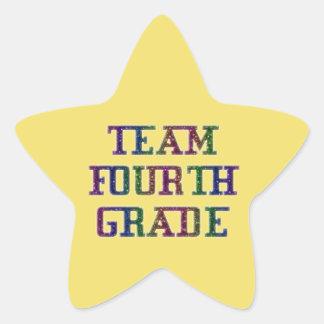 4年生のチームノベルティの学校の黄色のステッカー 星シール