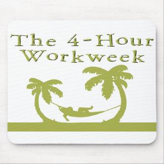 4時間の週労働日数のマウスパッド マウスパッド