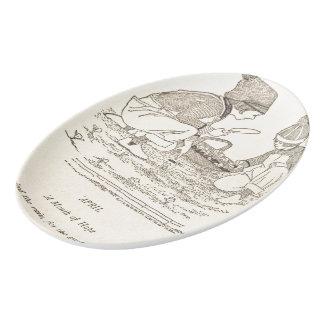 4月の詩 磁器大皿