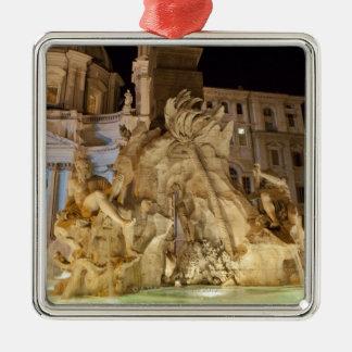 4本の川の噴水、広場Navona、ローマ メタルオーナメント