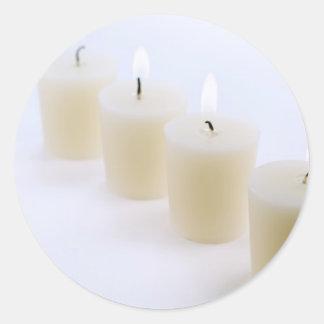 4本の蝋燭 ラウンドシール