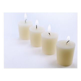4本の蝋燭 葉書き