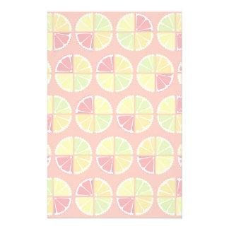 4柑橘類パターン 便箋