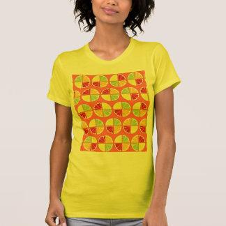 4柑橘類パターン Tシャツ