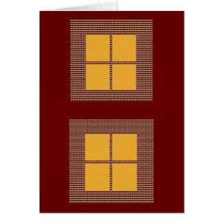 4正方形の金ゴールド カード