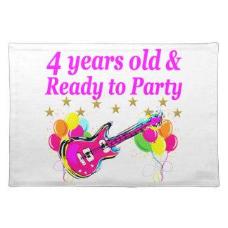 4歳のロックスターの誕生会 ランチョンマット