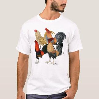 4羽の闘鶏 Tシャツ