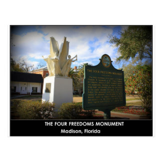4自由記念碑-マディソン、FL ポストカード